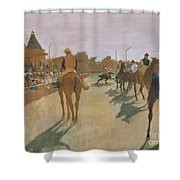 The Parade Shower Curtain by Edgar Degas