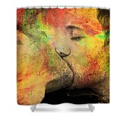 The Passion Of A Kiss 1 Shower Curtain by Mark Ashkenazi