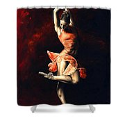 The Passion Of Dance Shower Curtain by Richard Young