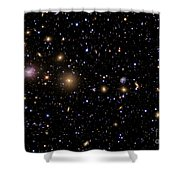 The Perseus Galaxy Cluster Shower Curtain by R Jay GaBany