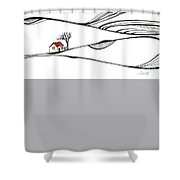 The Place Where Nothing Happens Shower Curtain by Aniko Hencz
