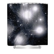 The Pleiades Star Cluster, Also Known Shower Curtain by Stocktrek Images