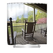 The Porch  Shower Curtain by Steve Gravano