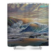 The Radiant Sea Shower Curtain by Marco Antonio Aguilar