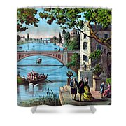 The Reception Of Benjamin Franklin In France Shower Curtain by War Is Hell Store