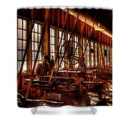 The Red Barn Of The Boeing Company Iv Shower Curtain by David Patterson