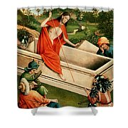 The Resurrection Shower Curtain by Johann Koerbecke