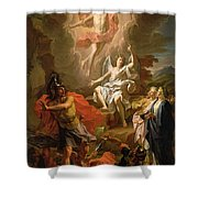 The Resurrection Of Christ Shower Curtain by Noel Coypel
