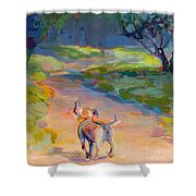 The Road Ahead Shower Curtain by Kimberly Santini
