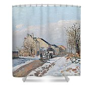 The Road From Gisors To Pontoise Shower Curtain by Camille Pissarro