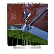 The Rolls Shower Curtain by Clayton Bruster