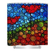 The Roots Of Love Run Deep Shower Curtain by Sharon Cummings