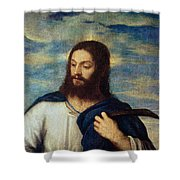 The Savior Shower Curtain by Titian