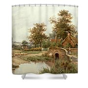 The Sheep Drover Shower Curtain by Thomas Octavius Clark
