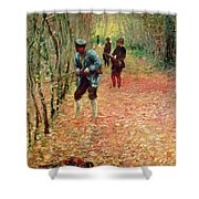 The Shoot Shower Curtain by Claude Monet