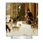 The Sisters of Charity Shower Curtain by Charles Burton Barber