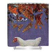 The Sky Is Falling Shower Curtain by James W Johnson