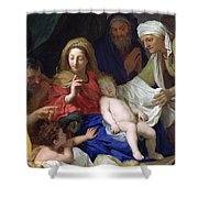 The Sleeping Christ Shower Curtain by Charles Le Brun