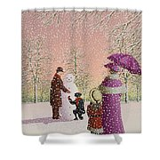 The Snowman Shower Curtain by Peter Szumowski