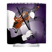 The Soloist Shower Curtain by Steve Karol