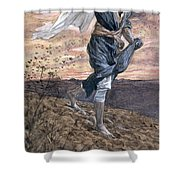 The Sower Shower Curtain by Tissot
