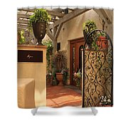 The Spa Shower Curtain by James Eddy