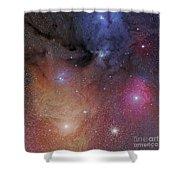 The Starforming Region Of Rho Ophiuchus Shower Curtain by Phillip Jones