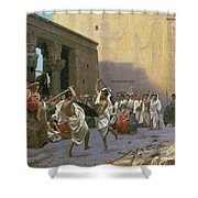 The Sword Dance Shower Curtain by Jean Leon Gerome