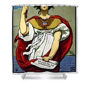 The Sword Is Drawn - The Navy Upholds It Shower Curtain by War Is Hell Store