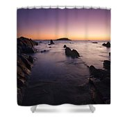 The Teeth Of Twilight Shower Curtain by Mike  Dawson