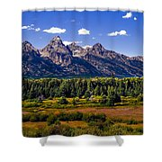 The Tetons II Shower Curtain by Robert Bales