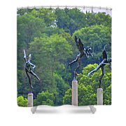 The Three Angels Shower Curtain by Bill Cannon
