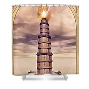 The Tower Shower Curtain by John Edwards