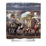 The Trail Of Tears Shower Curtain by Granger