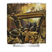 The Trenches Shower Curtain by Andrew Howat