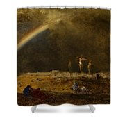 The Triumph At Calvary Shower Curtain by George Inness