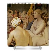 The Turkish Bath Shower Curtain by Ingres