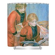 The Two Sisters Shower Curtain by Pierre Auguste Renoir