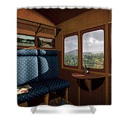 The View From Marion Station Shower Curtain by Cynthia Decker