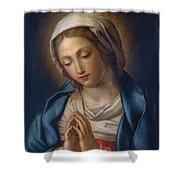 The Virgin At Prayer Shower Curtain by Il Sassoferrato