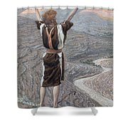 The Voice in the Desert Shower Curtain by Tissot