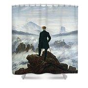 The Wanderer above the Sea of Fog Shower Curtain by Caspar David Friedrich