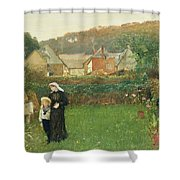 The Widow Shower Curtain by Charles Napier Hemy