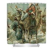 The Wise Men Seeking Jesus Shower Curtain by Ambrose Dudley