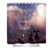 The Wolf Shower Curtain by Paul Sachtleben
