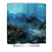 The Wreck Shower Curtain by Mary Hood