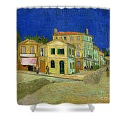 The Yellow House Shower Curtain by Vincent Van Gogh