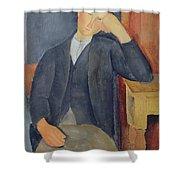 The Young Apprentice Shower Curtain by Amedeo Modigliani