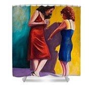 There Shower Curtain by Shannon Grissom