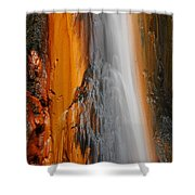 Thermal Waterfall Shower Curtain by Gaspar Avila